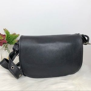 Vintage Coach Patricia's Legacy Black Leather Bag
